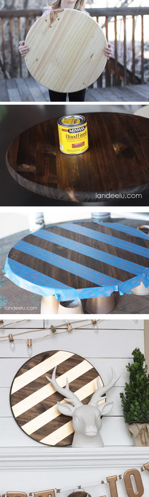 11 DIY Gold Christmas Mantel Decor