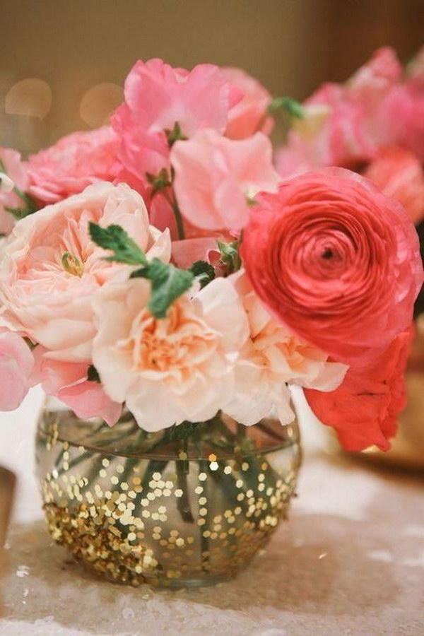 11  Glittered Wedding Centerpiece