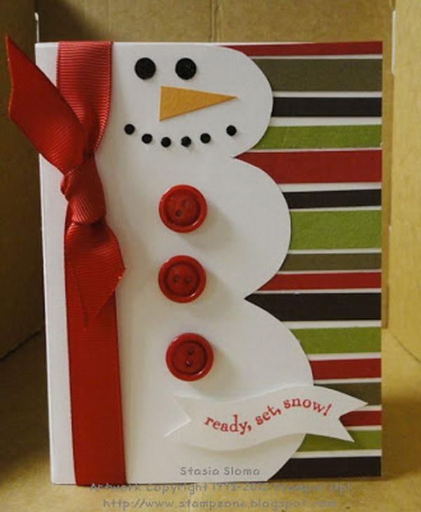11 Snowman Christmas Card