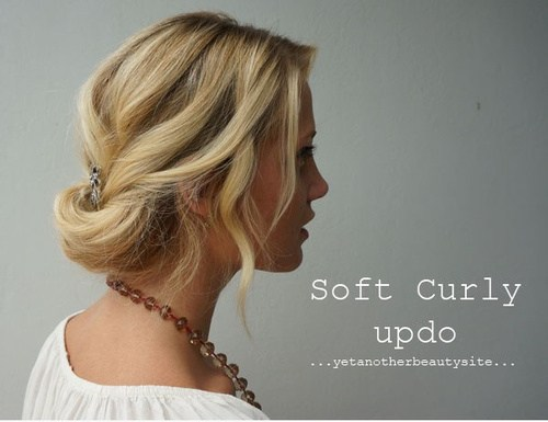 11 soft curly updo