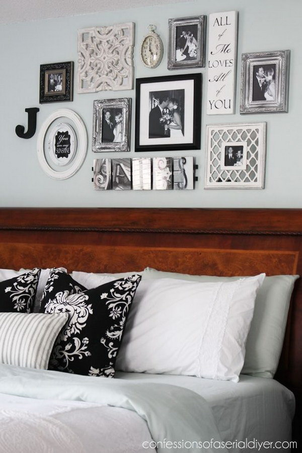 12 Black and White Bedroom Gallery Wall