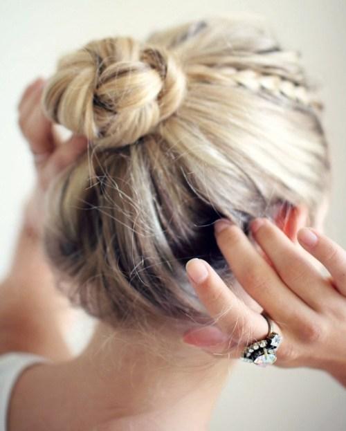 12 braided bun updo for long hair