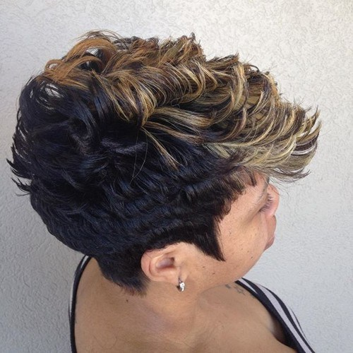 12 flipped curls for black hair