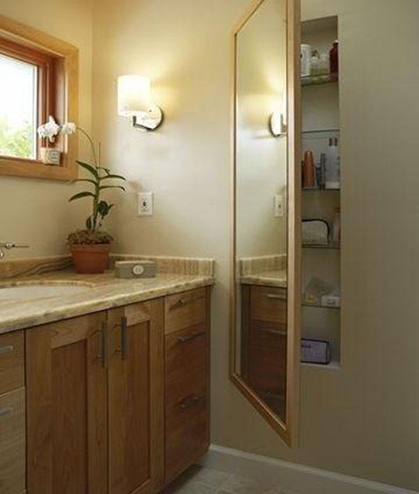 13 Bathroom Hidden Storage behind the Mirror