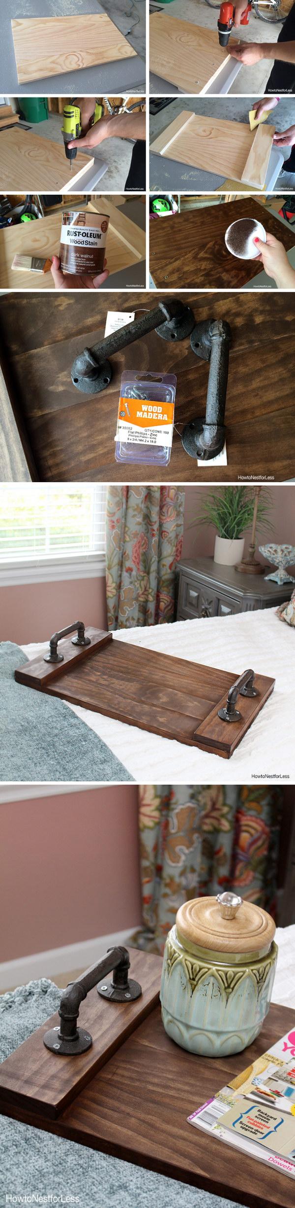 13 DIY Dark Walnut Stained Wood Tray