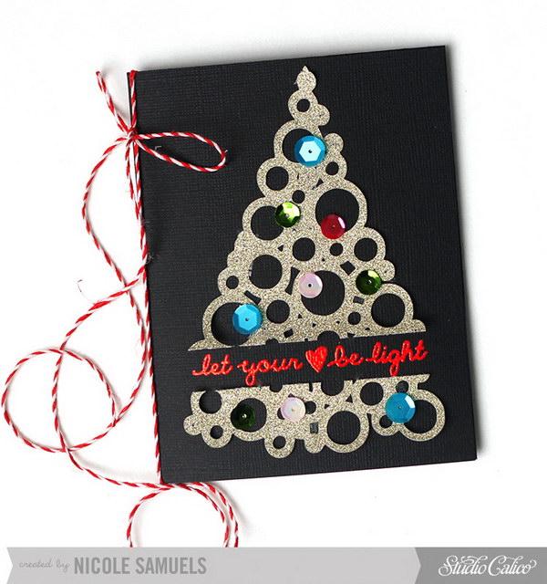 13 Embossed 5 Star Christmas Card