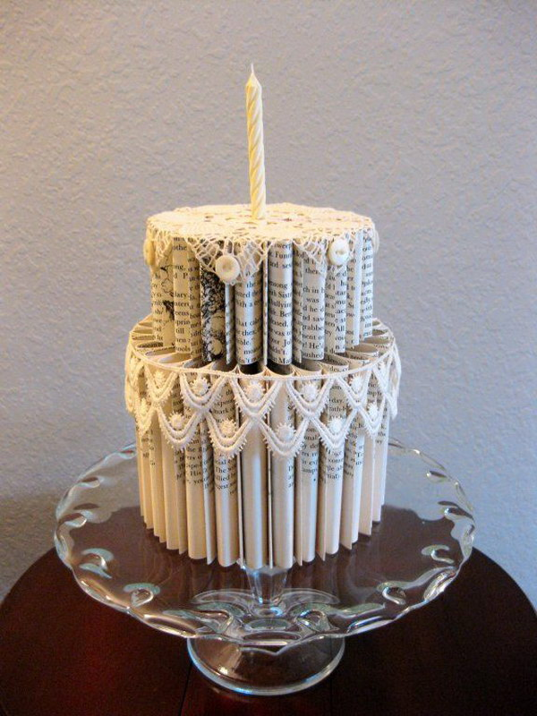13 Folded Book Pages Cake
