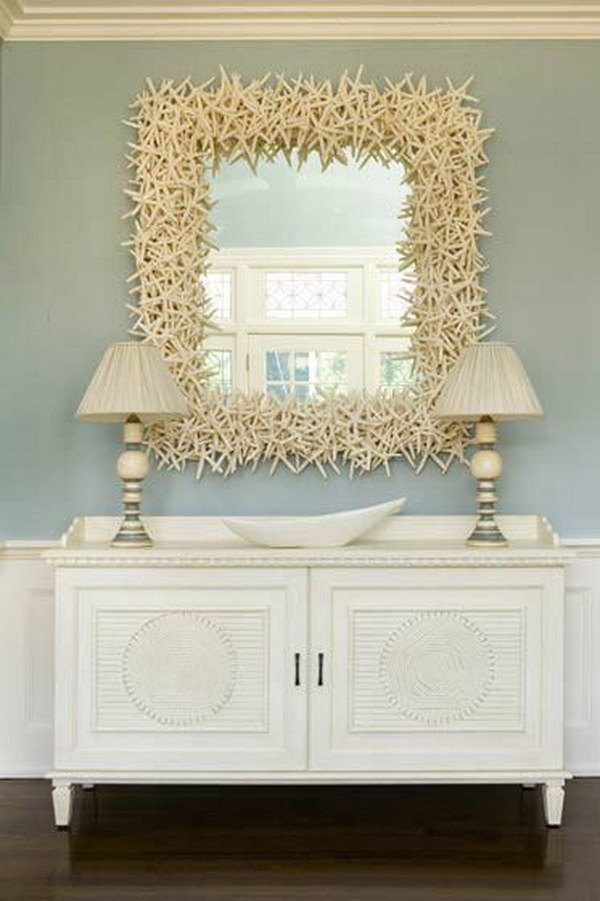 13 Over-Sized Starfish Decorated Mirror