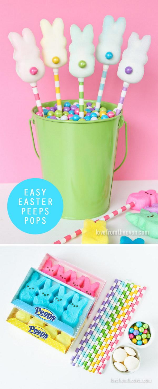 14 DIY Easter Peeps Pops