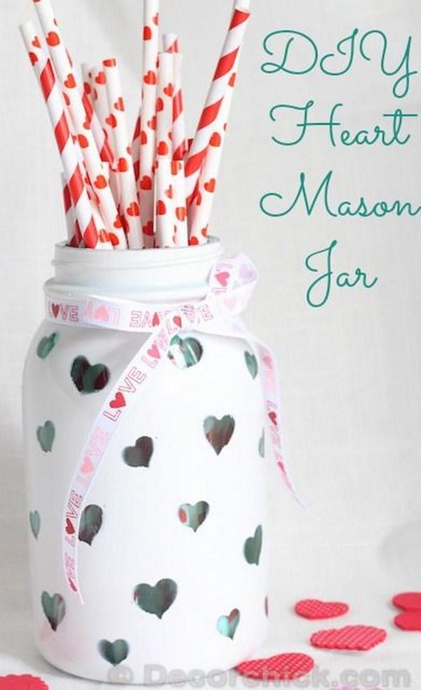 14 DIY Heart Mason Jar