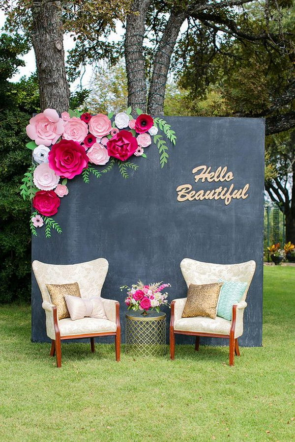 64 budget friendly photo booth backdrop ideas and tutorials page 14 foliver blog. Black Bedroom Furniture Sets. Home Design Ideas