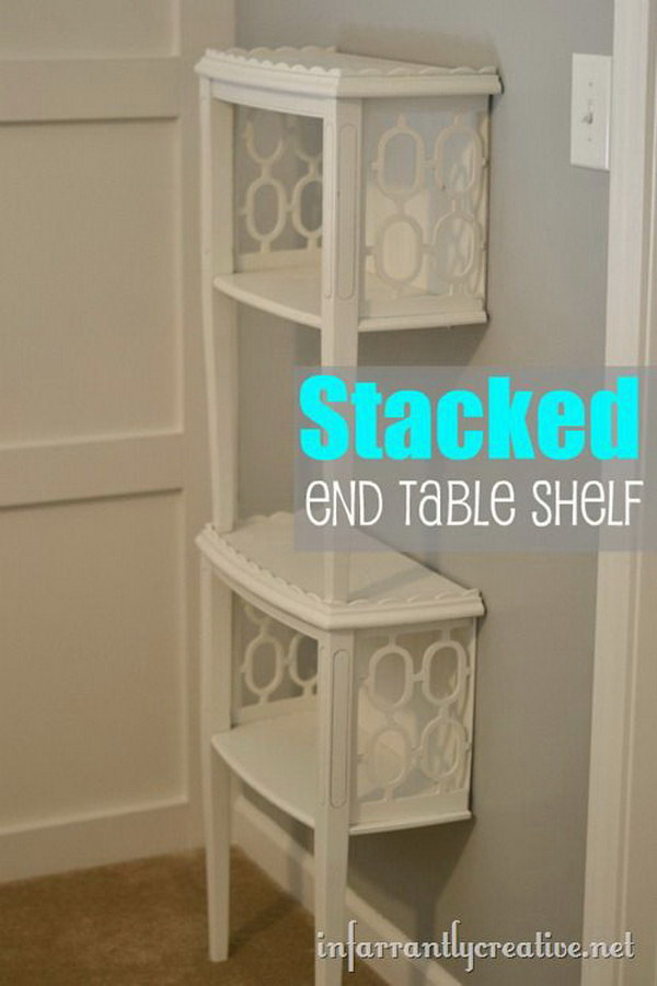 14 Stacked End Table Shelf