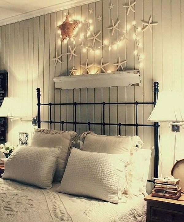 14 Starfish with Christmas Lights for Headboard Wall Decor