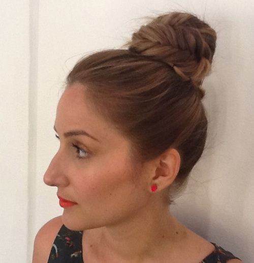 14 easy fishtail top knot updo