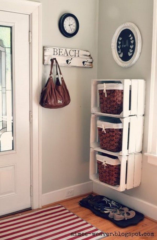15 DIY Crates Shelving System