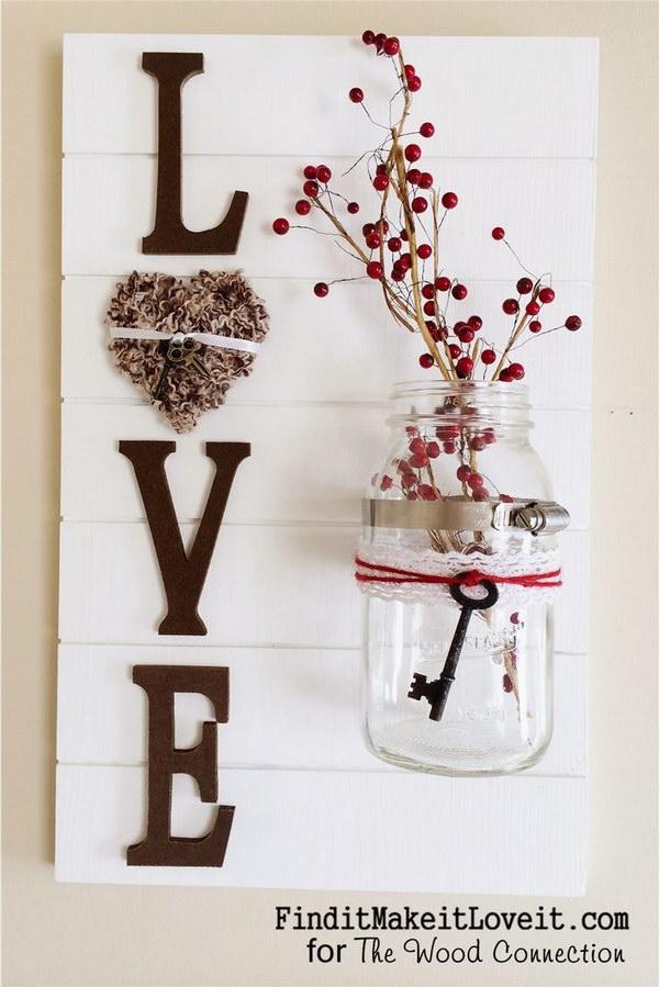 15 DIY Love Slat Sign
