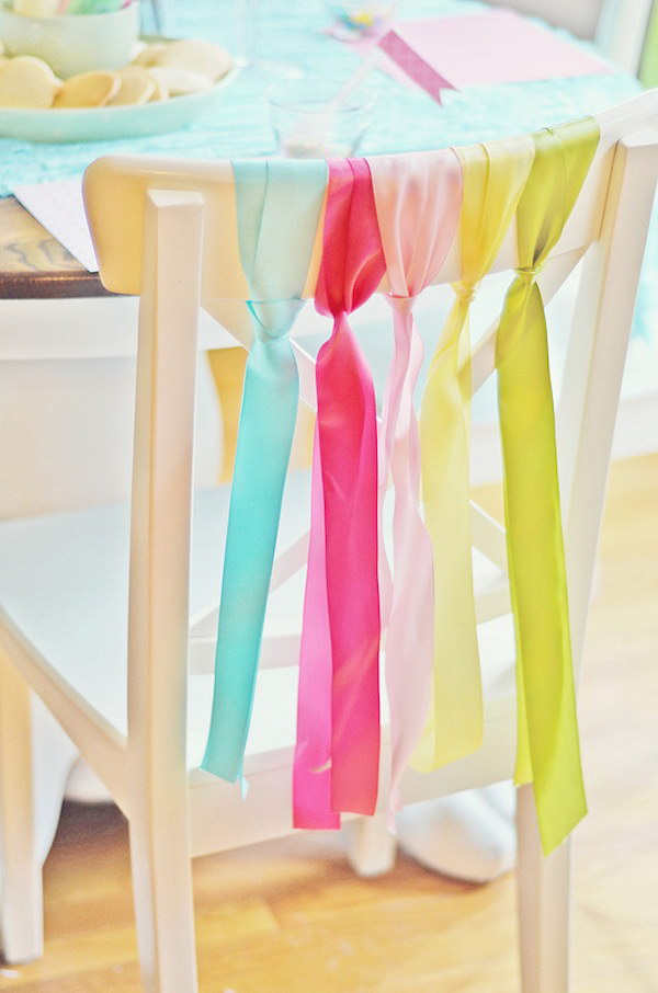 15 Dining Room Chairs Decoration with Ribbons