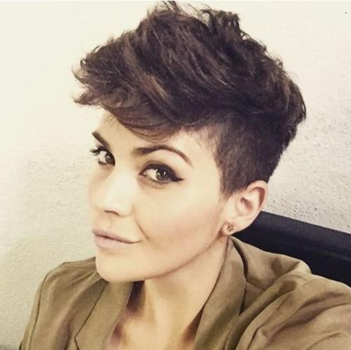 15 dark brown sassy haircut
