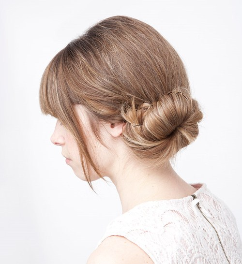 15 quick updo with a simple side bun