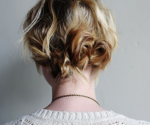 15 twist and pin messy updo