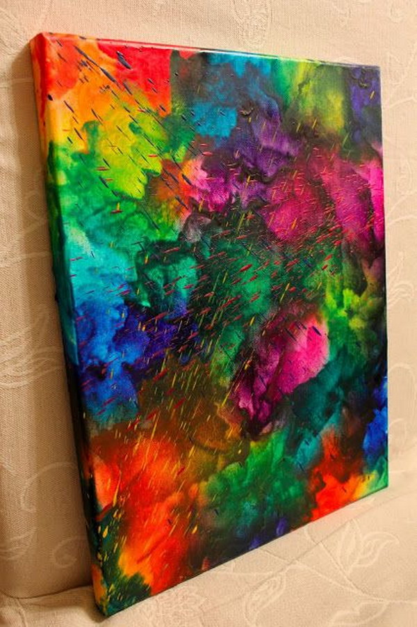Art Ideas Part - 22: Abstract Melted Crayon Art