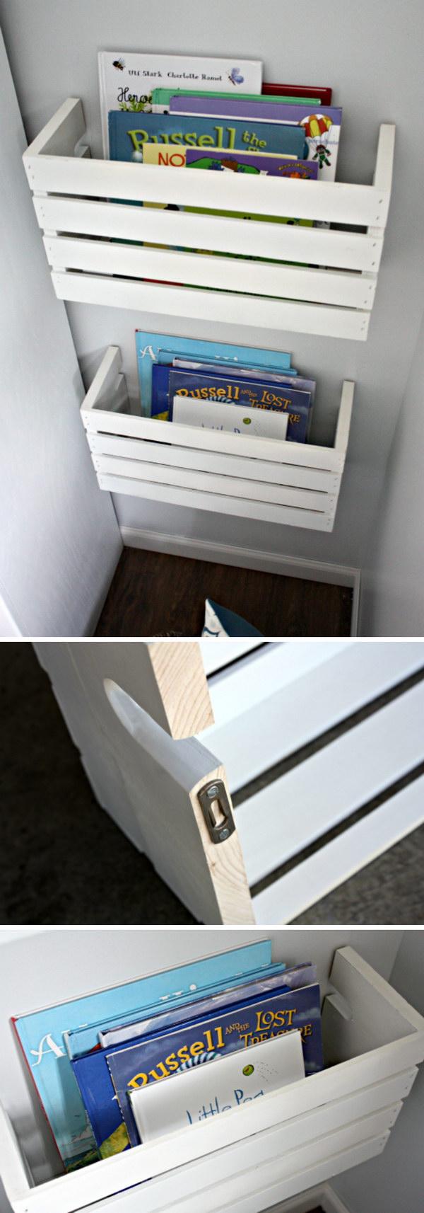 16 DIY Crate Book Shelves