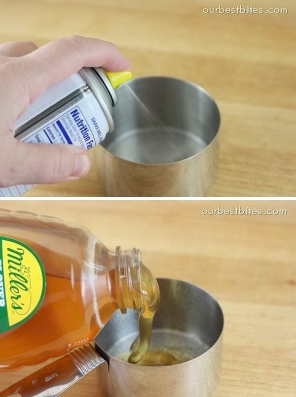 16 Kitchen Hack for Easy Measuring Sticky Stuff