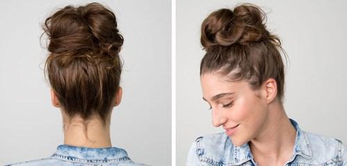 16 easy three minute bun updo for long hair