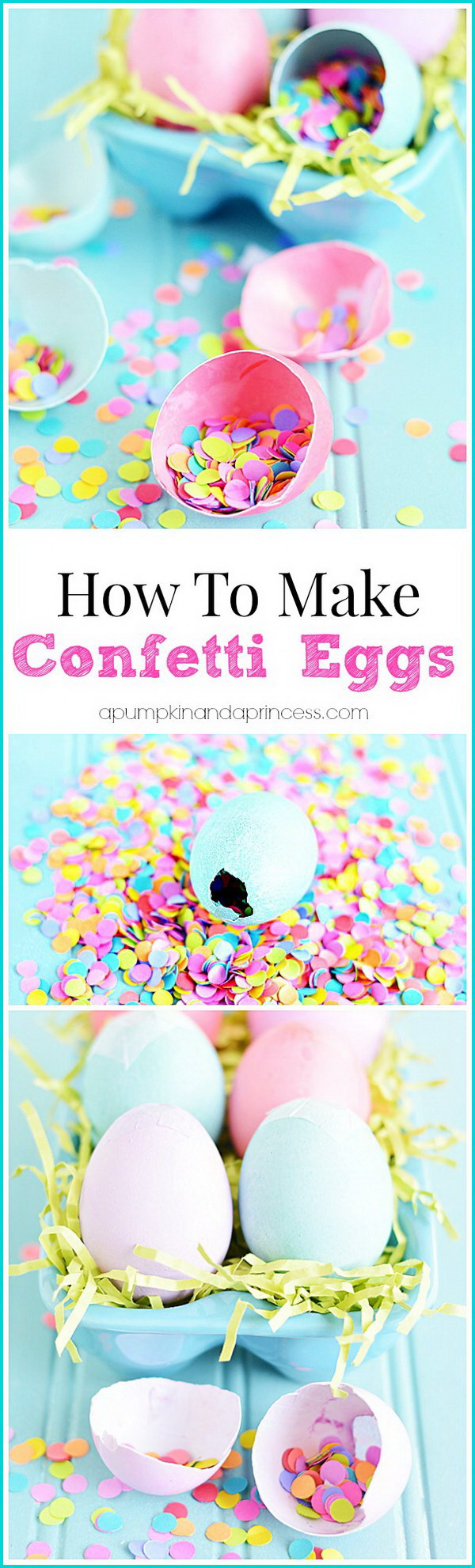 17 DIY Confetti Easter Eggs