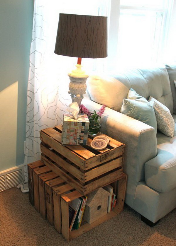 17 DIY Crate Side Table