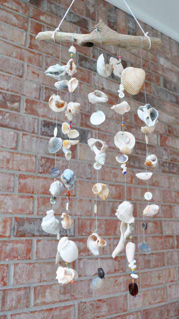 17 DIY Seashell Windchimes