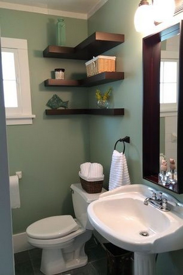 43 over the toilet storage ideas for extra space page 17 for Extra small bathroom designs