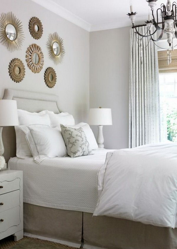 17 Small Mirrors Above Bed