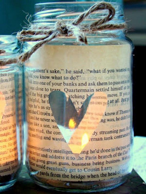 17 Vintage Sheet Music Glass Jar Candle Holder