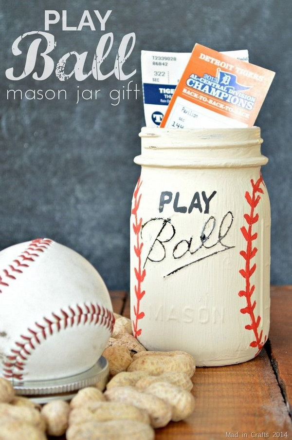 18 Baseball Themed Gift in a Jar for Him