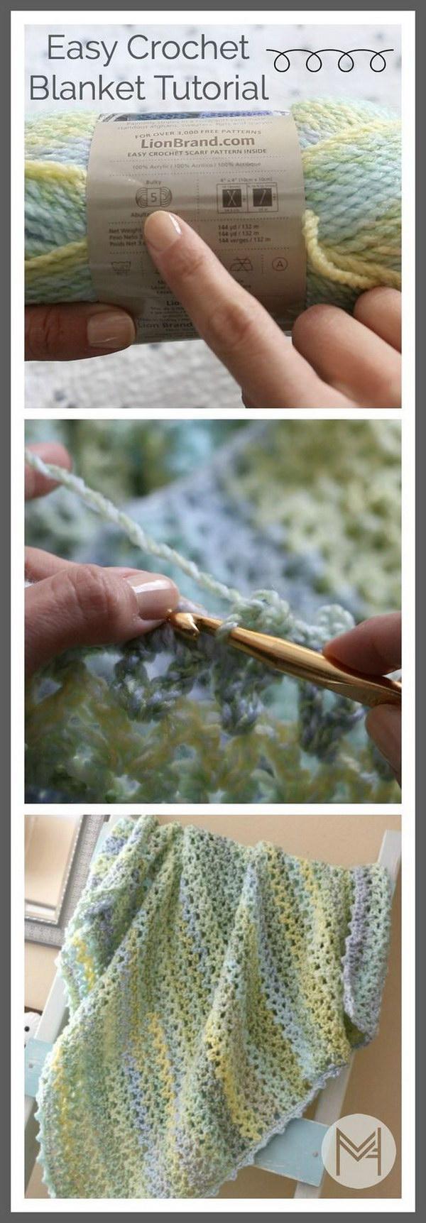 18 Easy Strips Baby Blanket Crochet Pattern