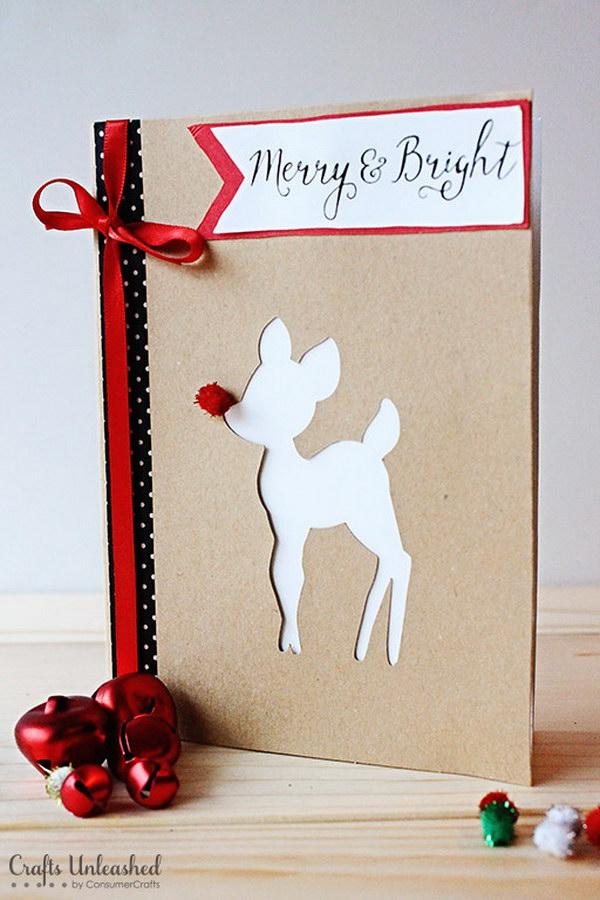 18 Rudolph DIY Christmas Cards