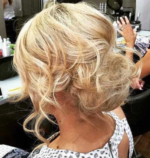 18 messy blonde bun updo