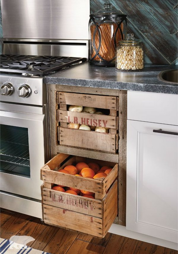 19 Kitchen Recycled Crates Drawers