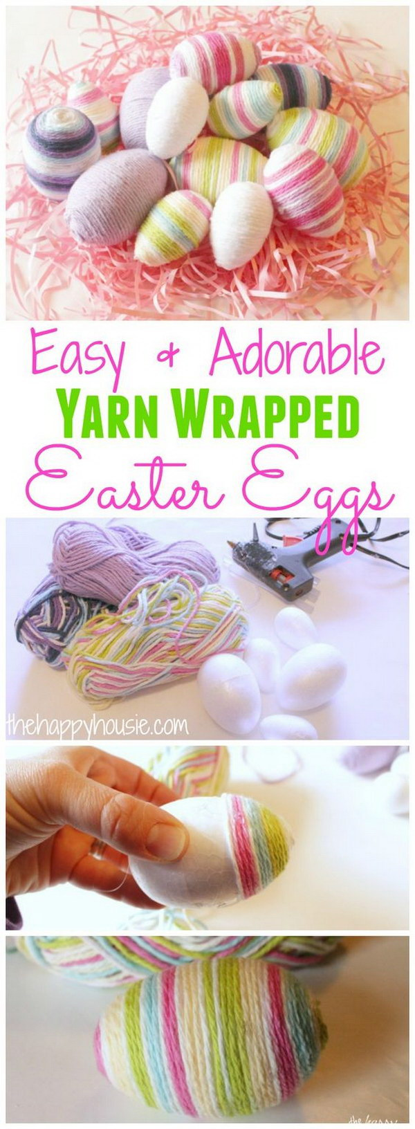 19 Yarn Wrapped Easter Eggs