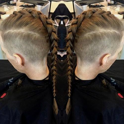 19 mens braided Mohawk