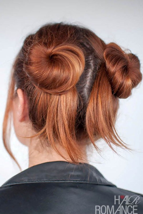 19 quick updo with cute pigtail buns