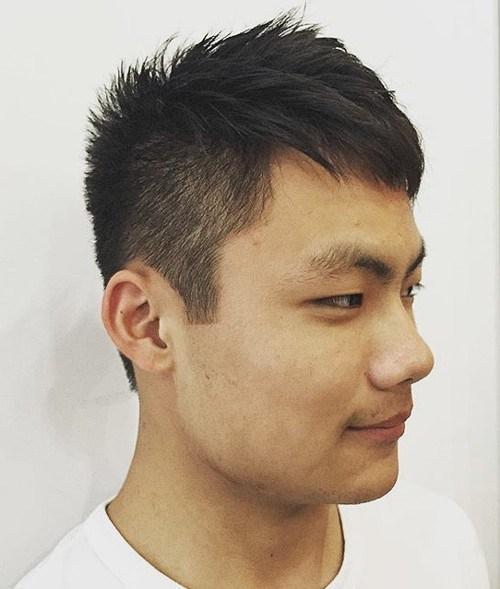 2 Asian men spiky haircut