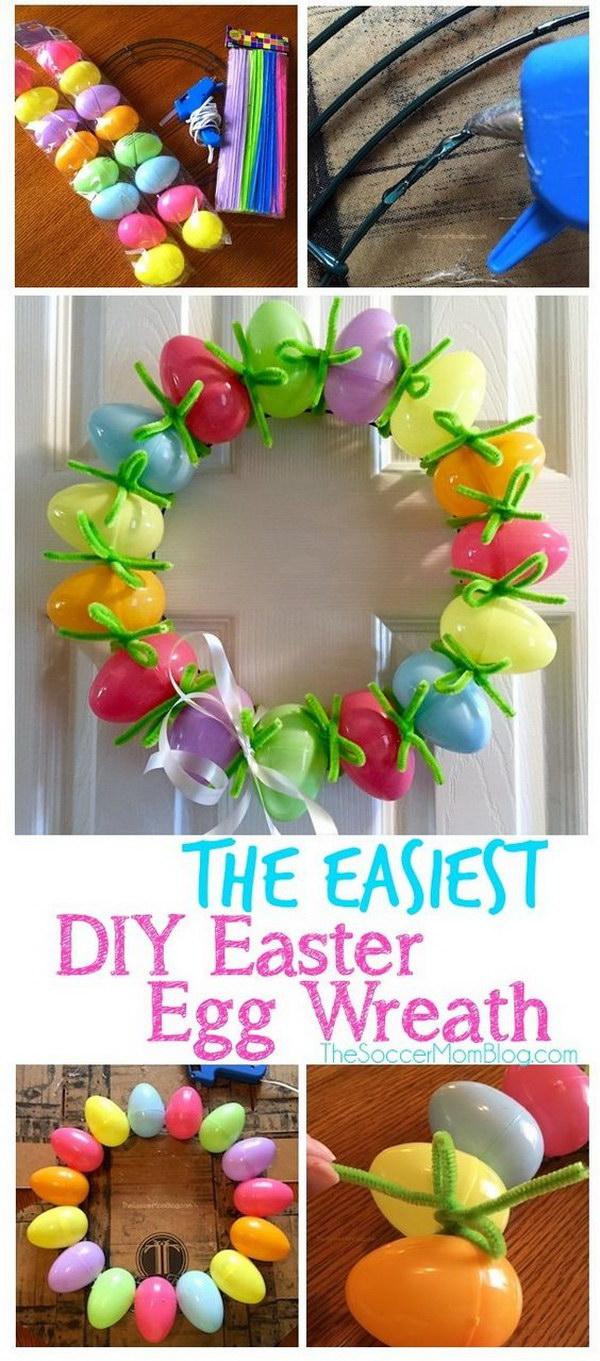 2 DIY Easter Egg Wreath