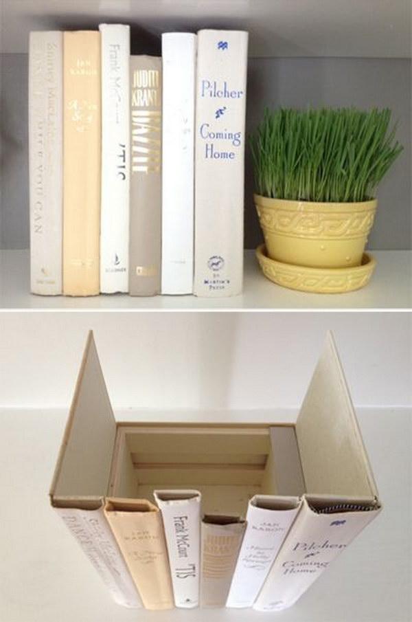2 Hidden Storage Behind the Books Spines