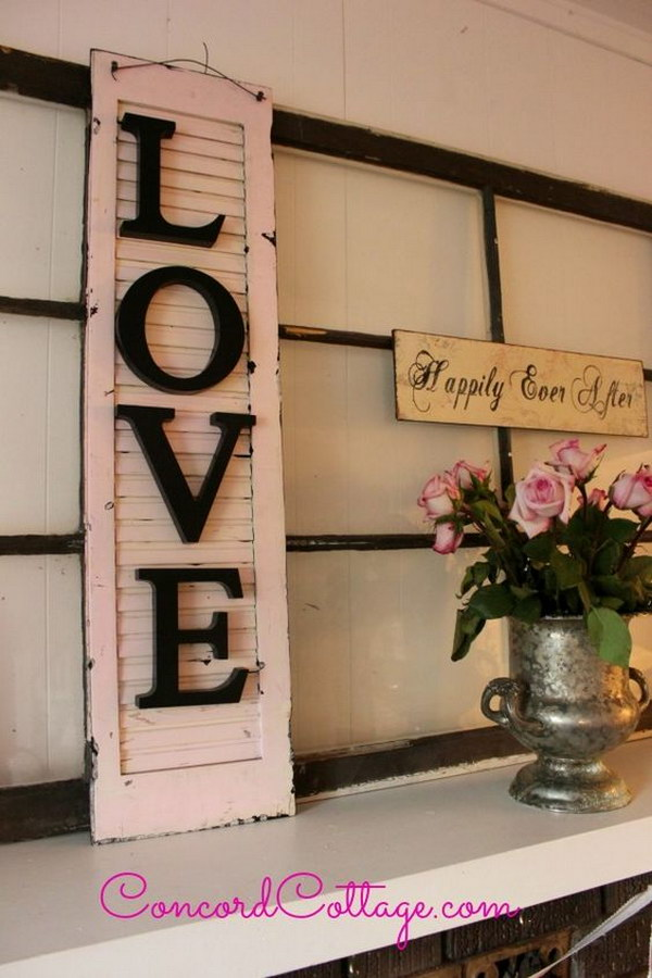 2 Old Shutter Turned Shabby Chic Wall Decor