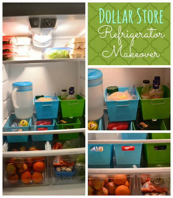 2 Organize Your Fridge with Small Bins