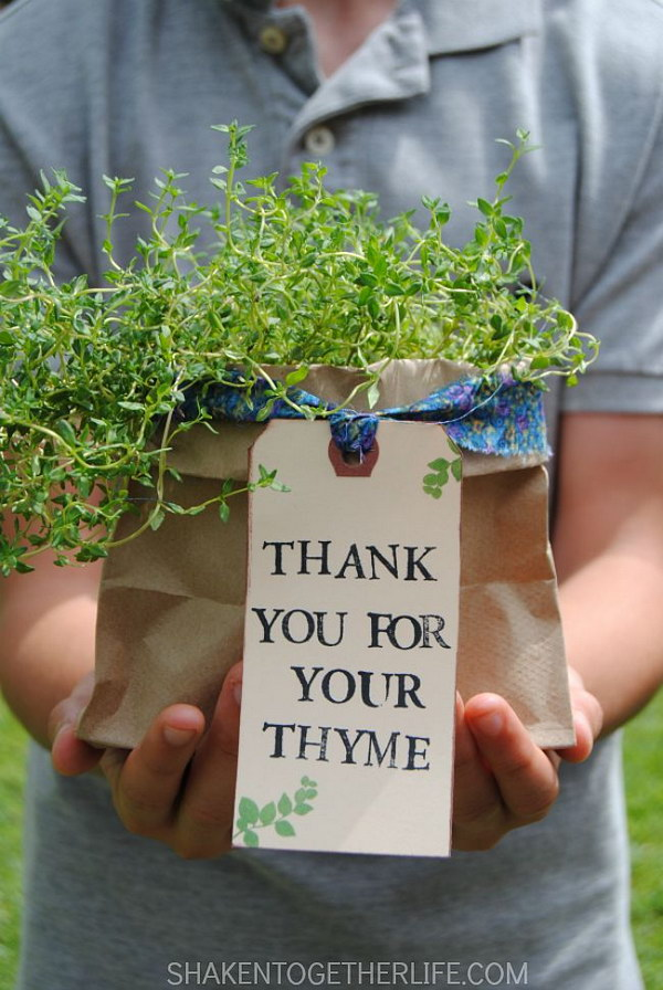 2 Thank You Herb Gifts