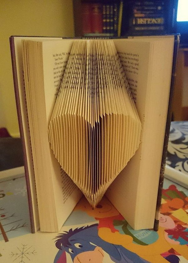 20 Folded Book Page Heart Art