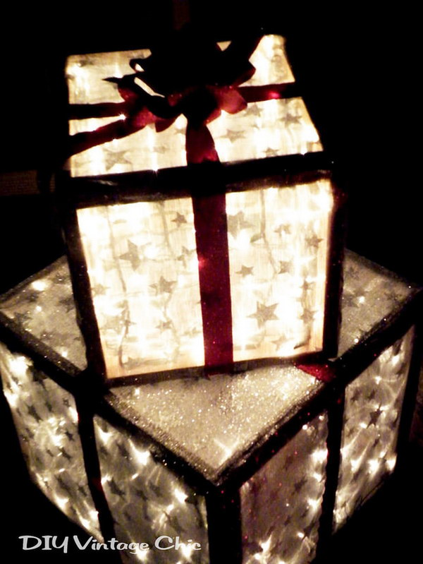20 Lighted Christmas Gifts for Outside Decor